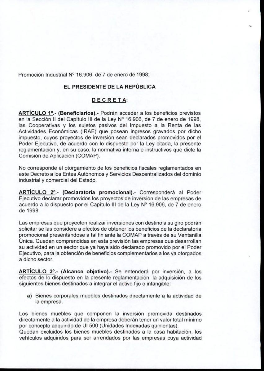 Hoja 2/15 del decreto MEF 172 de 30 de setiembre 2020