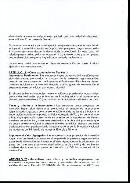 Hoja 12/15 del decreto MEF 172 de 30 de setiembre 2020
