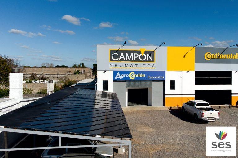 Campón Neumáticos cubre 100% de su consumo eléctrico con energía fotovoltaica
