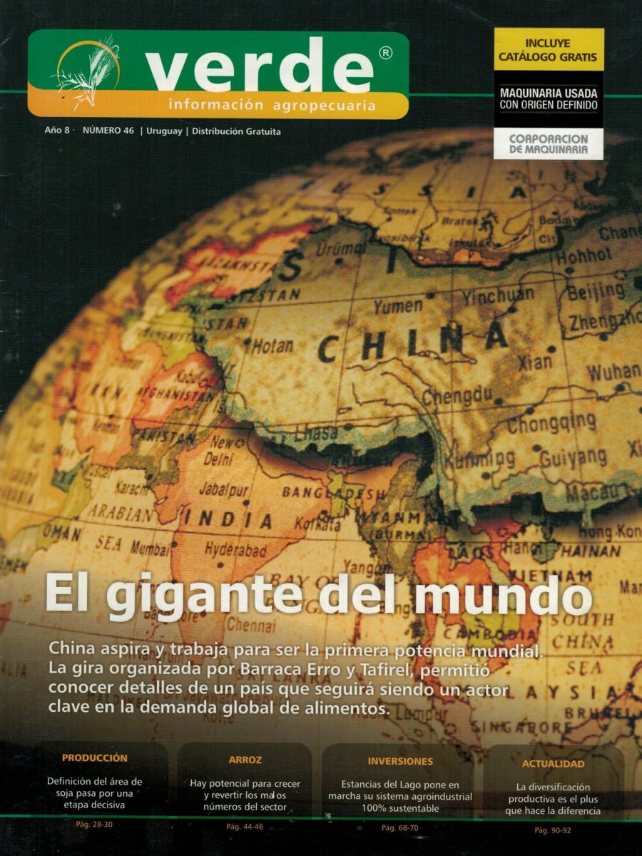 Tapa de la revista Verde, año 8, número 46, de 2015