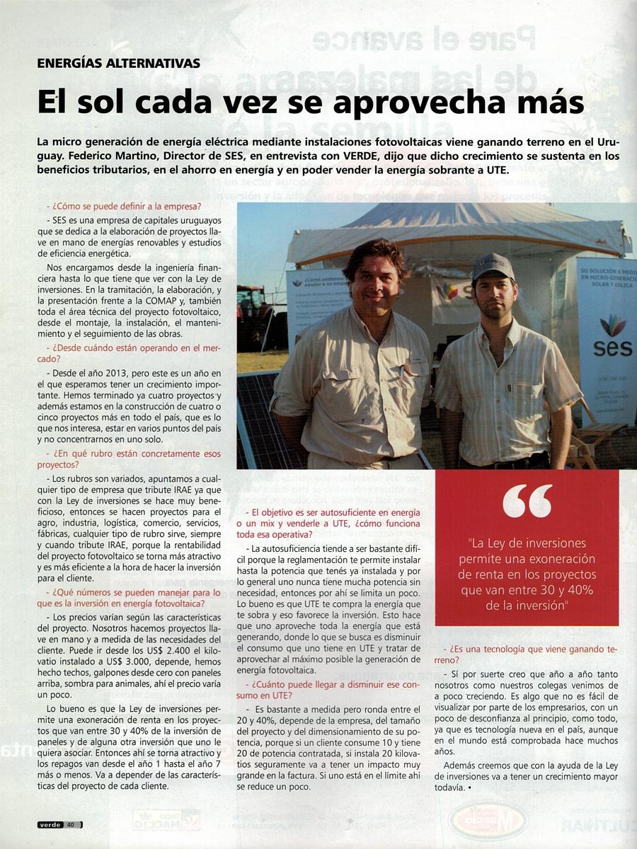 Copia de la entrevista original al director de SES publicada en la revista Verde